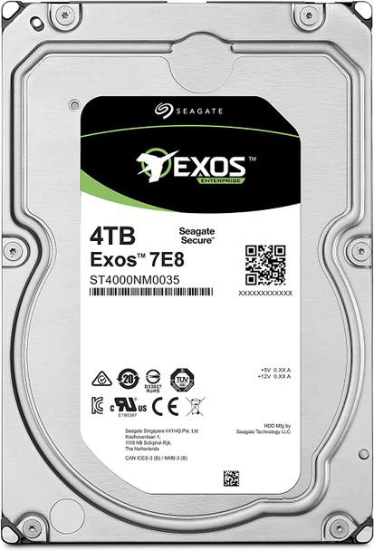 Seagate Exos 7E8 4TB 512n SATA 128MB Cache 3.5-Inch Enterprise Hard Drive | ST4000NM0035 (AC1CSSS6-03)
