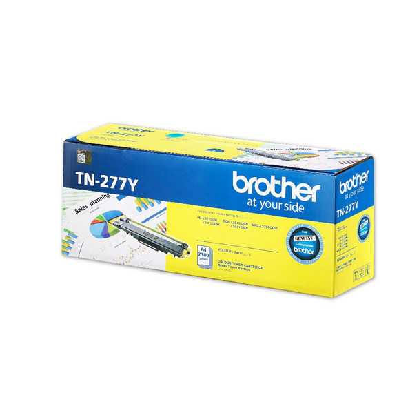 Brother 2,300 pages Yellow toner (DCP-L3510DW,DCP-L3551DW, MFC-L3750CDW) | TN-277Y