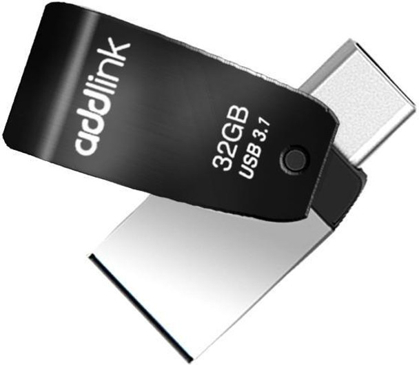 Addlink T65 32GB OTG 2in1 (Type C + USB 3.1) - Black | ad32GBT65G3