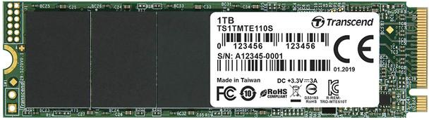 Transcend 1TB NVMe PCIe Gen3 x4 M.2 SSD   TS1TMTE110S