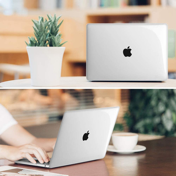 Hard shell cover case for MacBook Pro 13 (2019 2018 2017 2016 Release) - Protective Snap On Hard Shell Cover for MacBook Pro 13 Inch A2159 A1989 A1706 A1708 with/Without Touch Bar and Touch ID, Cry-Clear