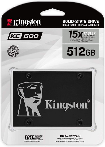 """KINGSTON KC600 512GB SATA 3 2.5"""" SSD   SKC600/512G"""