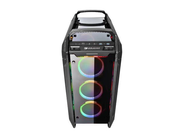 COUGAR PANZER EVO RGB Black ATX Full Tower RGB LED Gaming Case with Remote   PANZEREVORGB