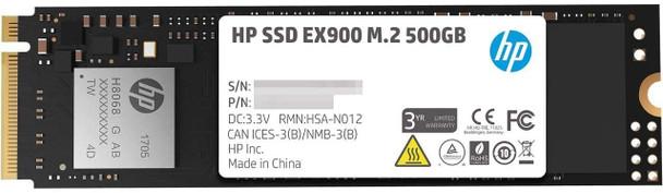 HP EX900 500GB PCIE M2 GEN 3 X 4 SSD | 2YY44