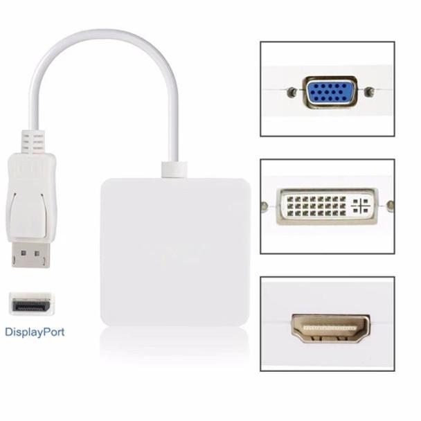 Display Port to HDMI+VGA+DVI 3in1 | DP201