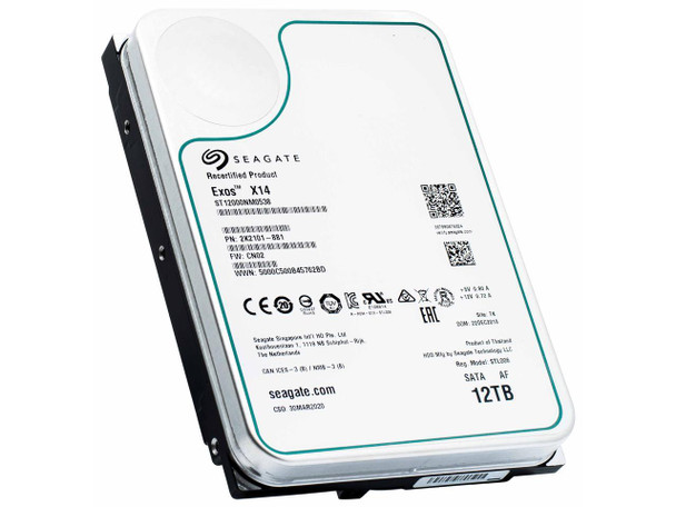 Seagate Exos X14 12TB 7200 RPM SATA 6Gb/s 3.5-Inch Enterprise Hard Drive   ST12000NM0538