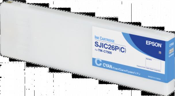 Epson SJIC26P(C): Ink cartridge for ColorWorks C7500 (Cyan) | C33S020619