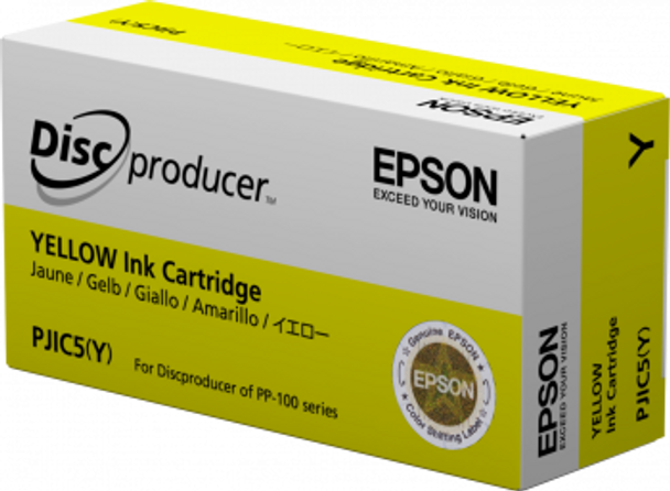 Epson Discproducer Ink Cartridge, Yellow   C13S020451