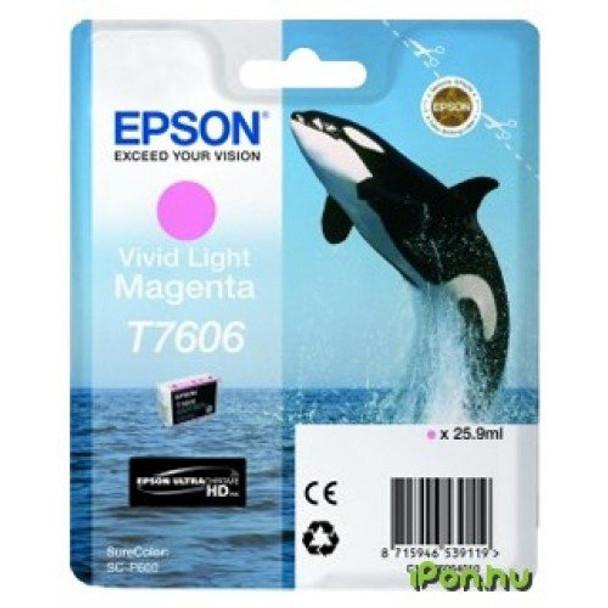 Epson Ultrachrome® HD, Killer Whale, Singlepack, 26mlVivid Light Magenta   T76064010