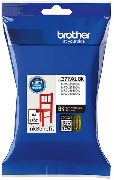 Brother Genuine Super High Yield Black Printer Ink Cartridge | LC3719XLBK