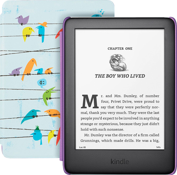 Kindle Kids Edition With Parental Control Rainbow Birds Cover