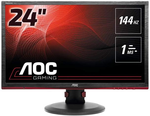 "AOC 24"" Gaming Monitor, FreeSync, FHD (1920x1080), TN Panel, 144Hz, 1ms, Height Adjustable, DisplayPort, HDMI, USB | G2460PF"