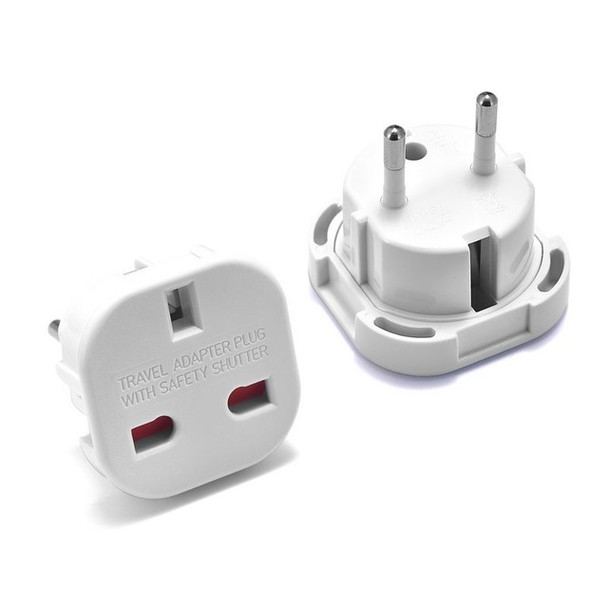 EU to UK Travel Plug Adapter