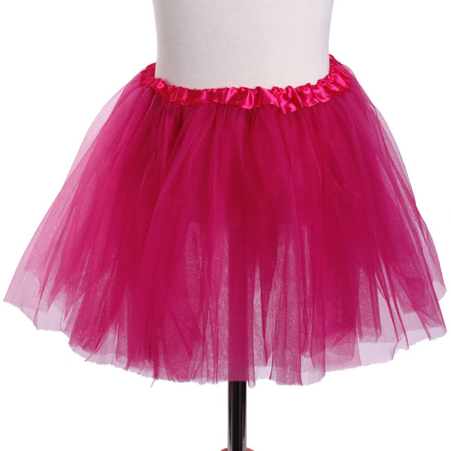 Dark Pink Child's Ballet Tutu 3 Layered Soft Tulle
