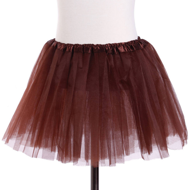Brown Child's Ballet Tutu 3 Layered Soft Tulle