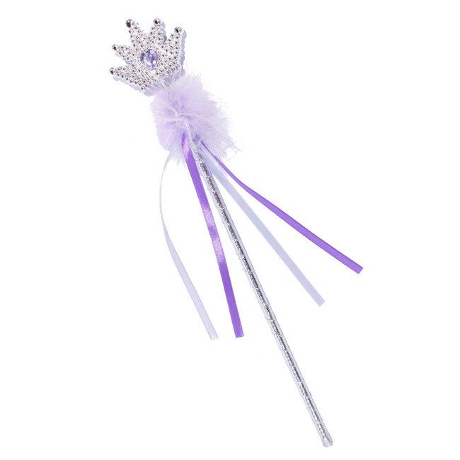 Lavender Princess Crown Wand with Ribbons