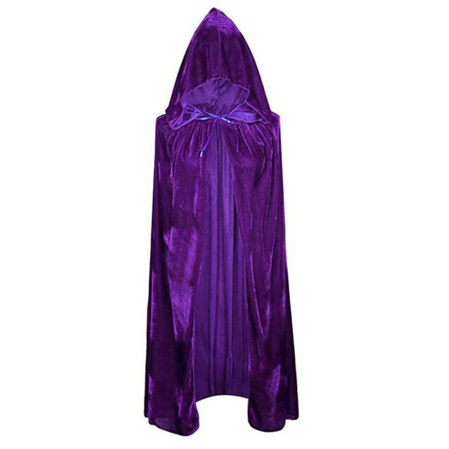 purple cape with hood