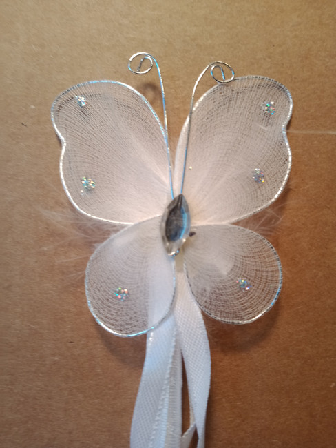 White Butterfly wand
