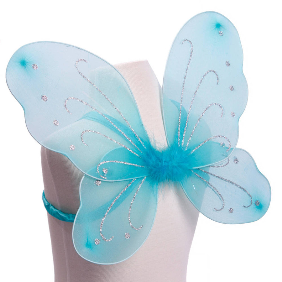 Turquoise Butterfly Fairy Wings Costume Side View