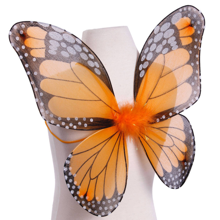 Orange and Black Monarch Butterfly Wings Costume Side