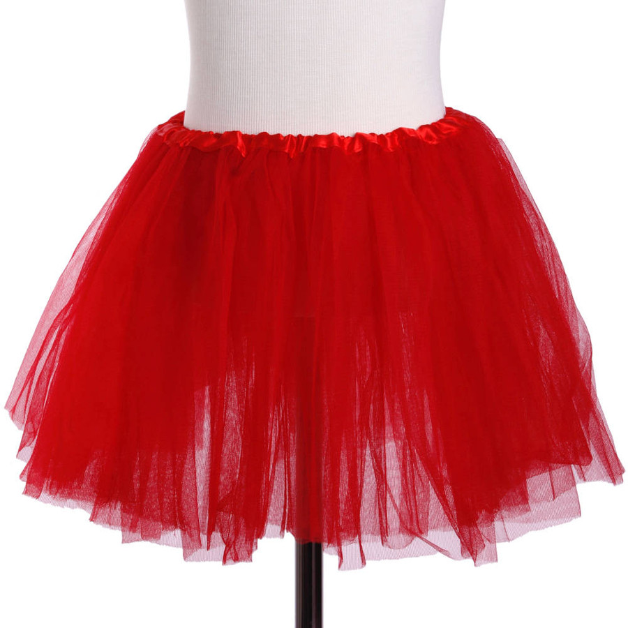 Red Child's Ballet Tutu 3 Layered Soft Tulle