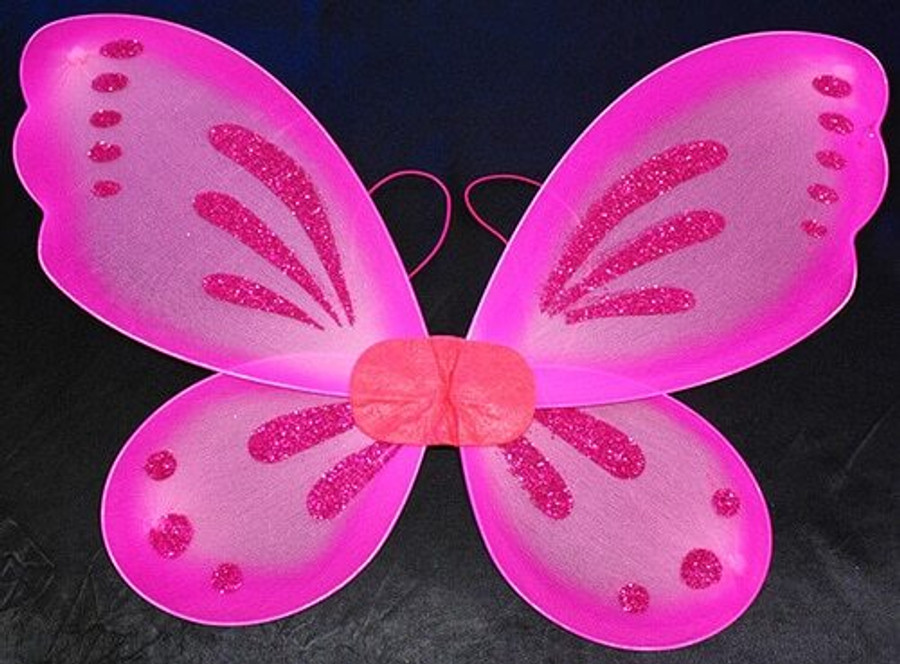 Hot Pink Fairy Wings With Dark Pink Glitter