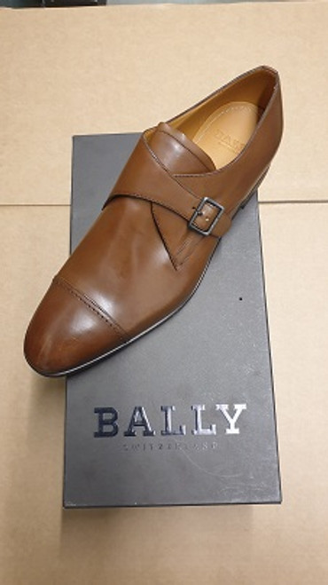 Bally Shoes Ex Display  Brown  Leather Monk-Straps