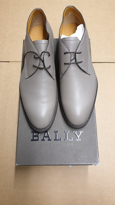 Bally Shoes - Ex Display - Grey Leather Lace Up