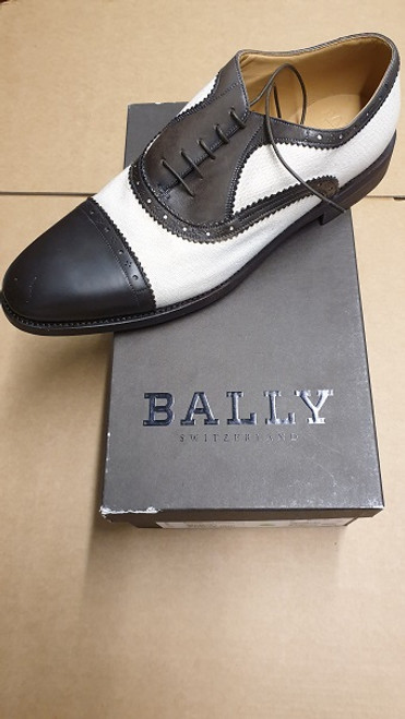 Bally Shoes - Ex Display - Dark Brown & White Leather Lace Up