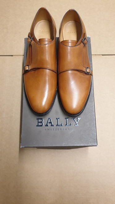 Bally Ex Display Double Sided Strap Whisky Leather Shoe