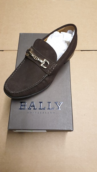 Bally Shoes - Ex display -  Coffee Brown Slip On Suede