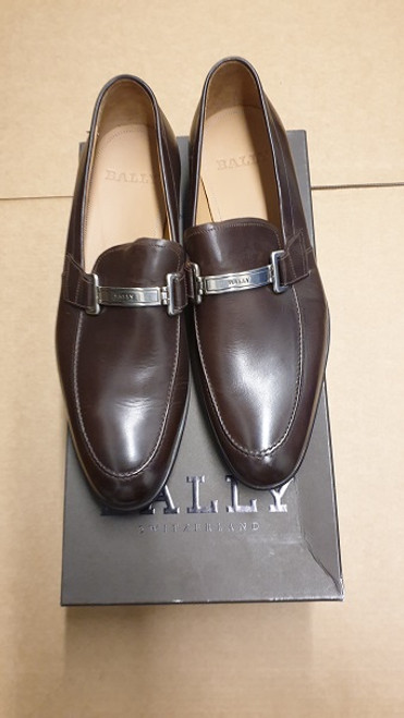 Bally Shoes - Ex Display Leather Slip On -  Cocoa Colour
