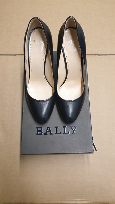 Bally Shoes - Ex Display - Black Lamb Nappa Plain Leather Court Shoes
