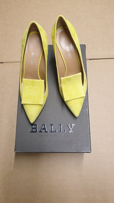 Bally - Ex Display - Citron 14 Kid Suede Pump shoe