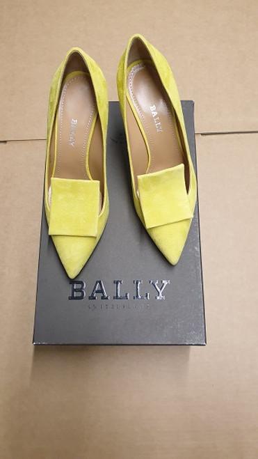 Bally - Ex Display - Citron 14 Kid Suede Pump shoe