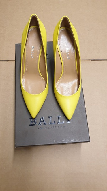 Bally Shoes  - Ex Display - Citron 14 Lamb Nappa Plain Pump