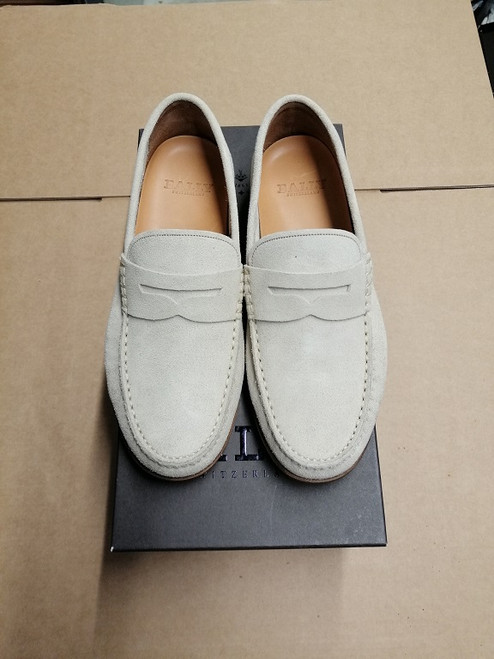Bally Loafers - Ex Display - Oat Calf Suede