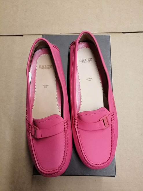 Bally Shoes - Ex Display - Fuxia Calf Plain Loafer