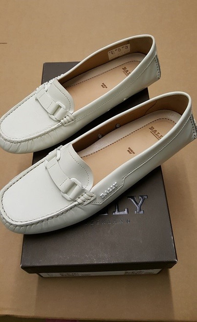 Bally Loafers - Ex Display - White Calf Plain