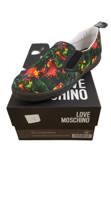 Love Moschino - Green & Red Multi Plimsolls