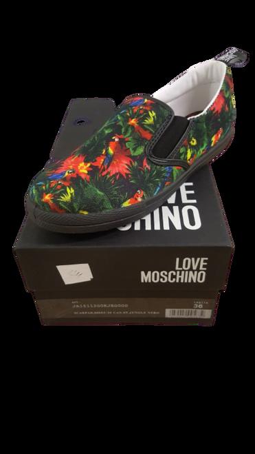 Love Moschino - Green & Red Multi Plimsolls