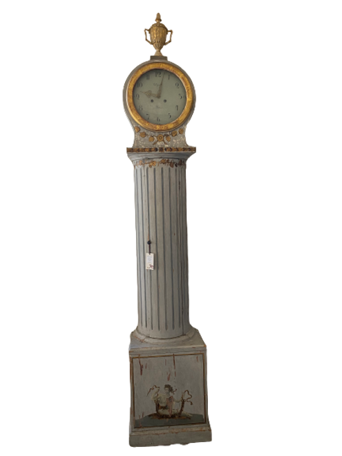 Swedish Clock with hand-painted Neo Classical Decoration
