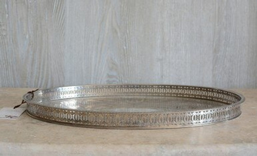 Lovely Oval Vintage Silverplate Tray