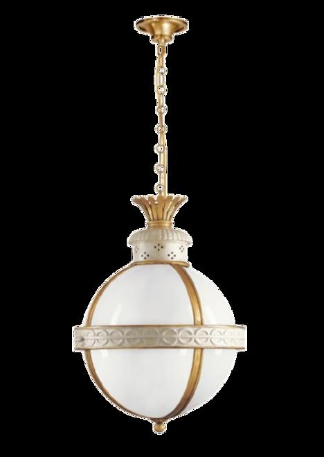 Crown Top Banded Globe Lantern