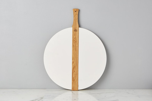 Etú Home Large Round Pizza Board (White)