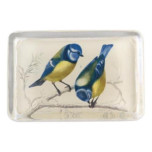John Derian Yellow Breasted Blue Bird Paperweight