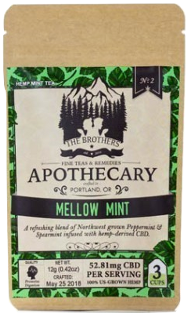 The Brothers Apothecary: Mellow Mint CBD Infused Tea (186mg)
