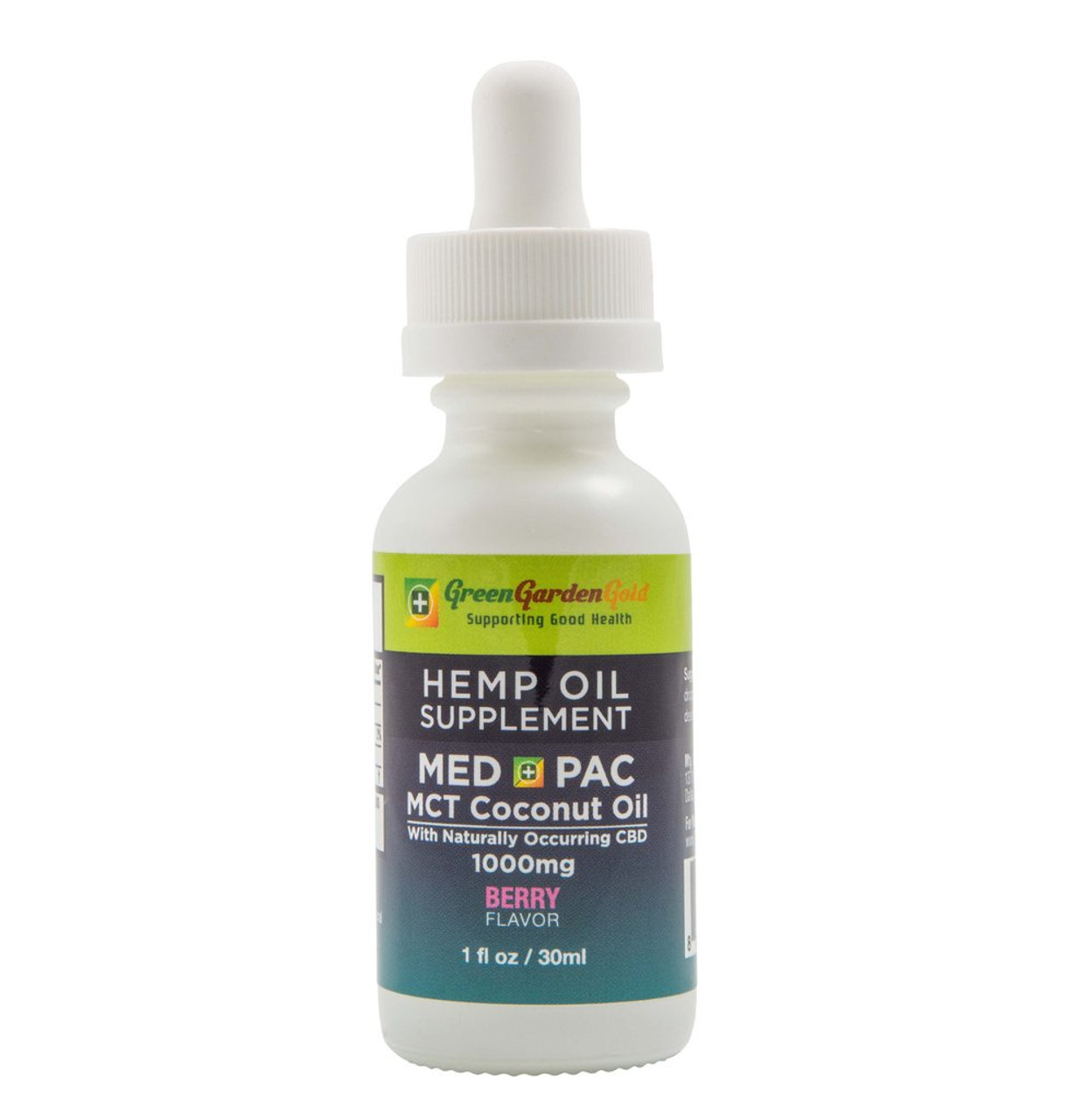 Green Garden Gold: Med Pack Berry MCT Oil (1000mg)