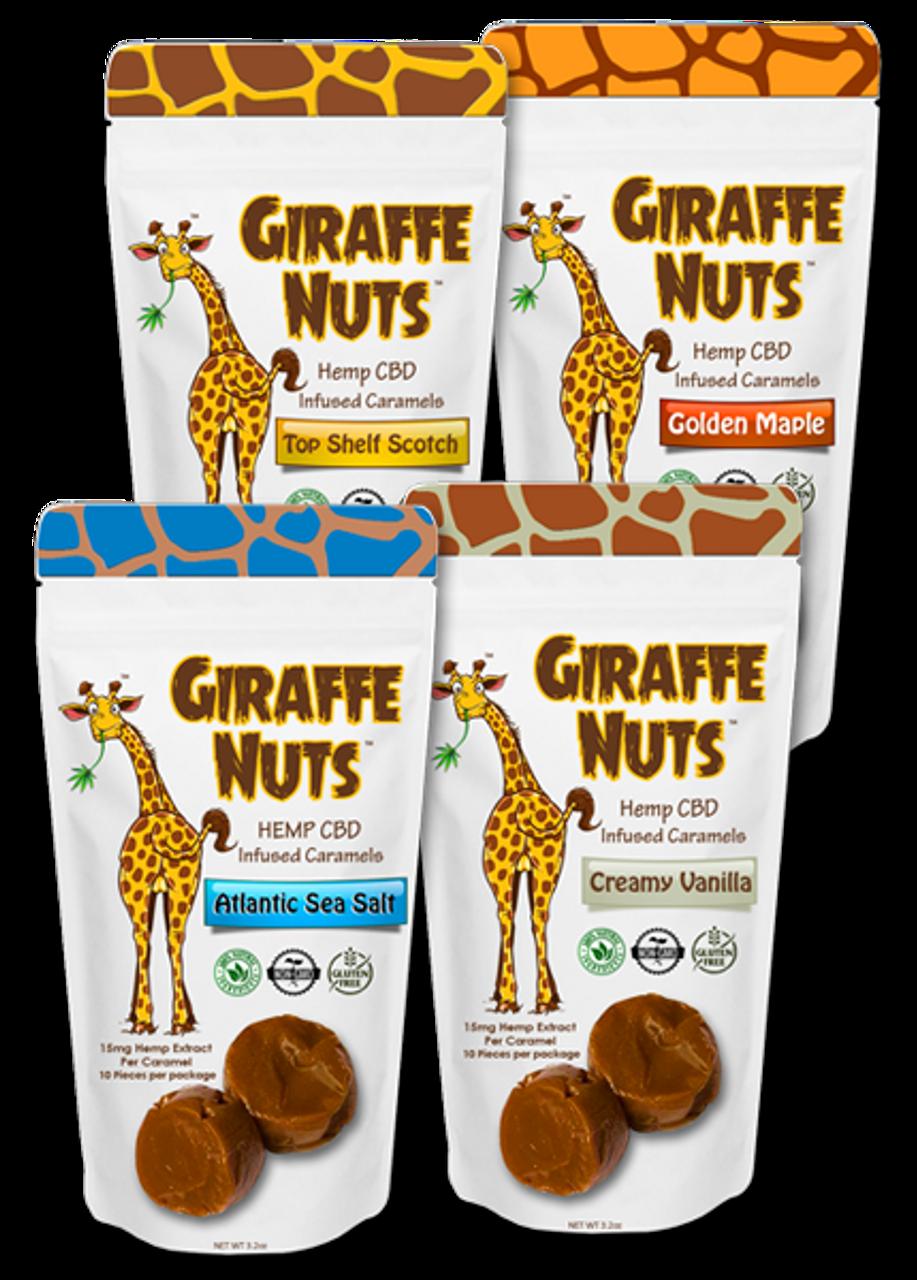 Giraffe Nuts: CBD Caramels Original Flavor Bundle (150mg)