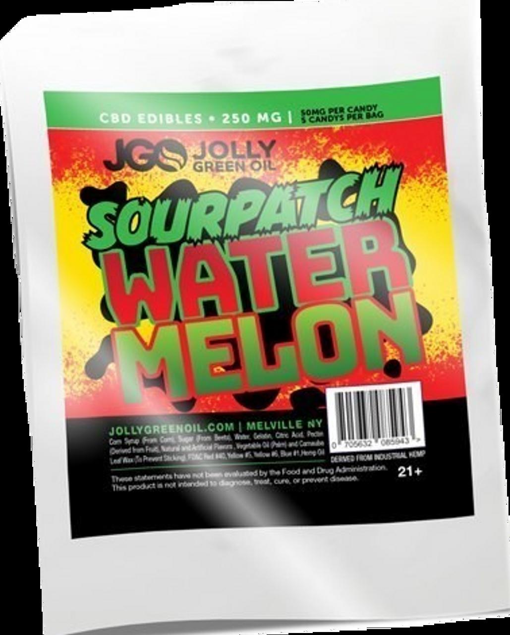 Jolly Green Oil: Sour Patch Watermelon CBD Gummies (250mg)